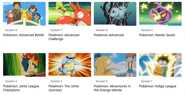 "Understanding ""Seasons"" of the Pokémon TV Show"