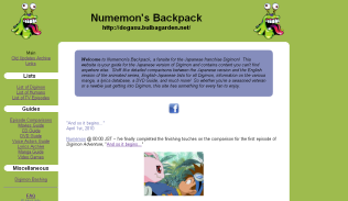 Numemon's Backpack